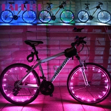 2016 Hot Waterproof 2M/20LED Motorcycle Cycling Bike Bicycle Wheels Spoke Flash Light Lam fashion hot &Wholesale DEC20