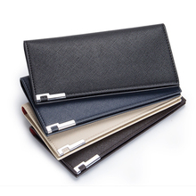 Slim wallet men Thin wallet men leather purse soft men wallets luxury brand famous male clutch money bag small pocket