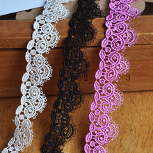 10Yards 2.0cm Water Soluble Lace Trim Embroidered Lace Motif Venise Applique Trimming For Garment Accessories(China)