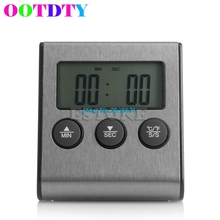 Digital LCD BBQ Thermometer Timer Gauge BBQ Meat Grill Household Kitchen Oven Food Cooking MY5_10(China)