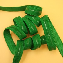 12mm 5 Meters High Quality Green Non-slip Elastic Band Straps DIY Lady Women Bra Dress Clothes Baby Head Sewing Accessories(China)