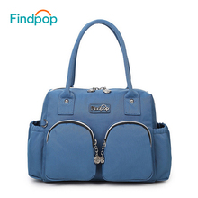 Findpop Black Women Handbags 2017 New Fashion Canvas Waterproof Tote Bags Crossbody Bags Large Capacity Casual Ladies Handbags(China)
