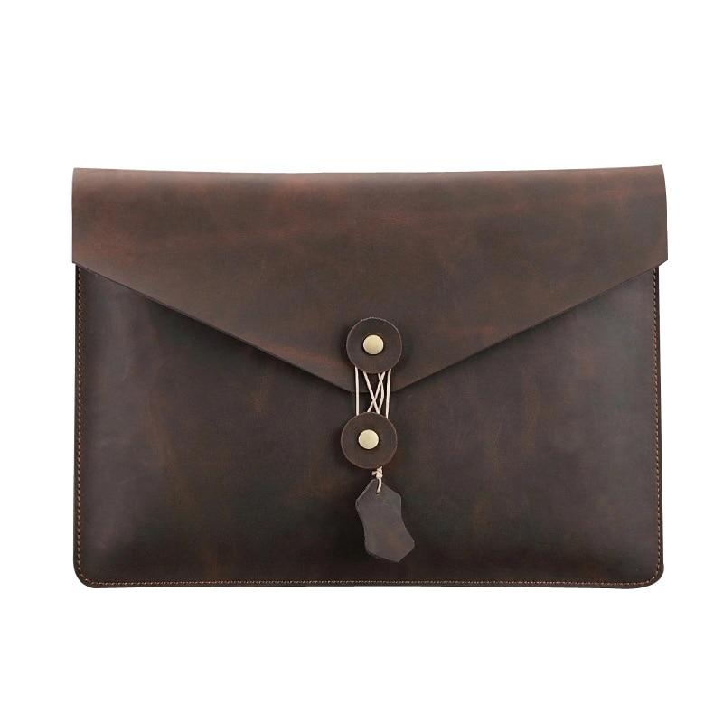 MEIKENG Hot Selling High Quality Leather File Folder Document Filing Bag Elastic Closure Folder Laptop Bag Notebook Bag<br>