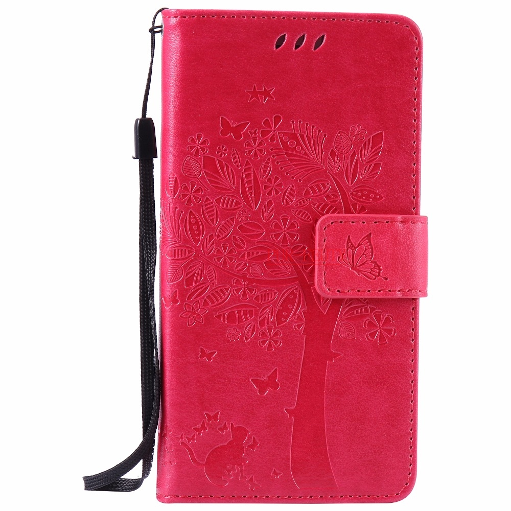 Luxury Embossing Fashion Painting Leather Case Sony Xperia M2 Dual Aqua S50H D2302 D2305 Flip Wallet Stand Cover Phone Cases