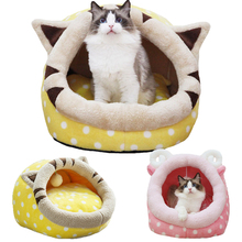 Christmas New Year Super Soft Animals Dog Cat Bed Pet House Gift Mat Puppy Cartoon Cheap Dog Kennel Indoor cama perro(China)