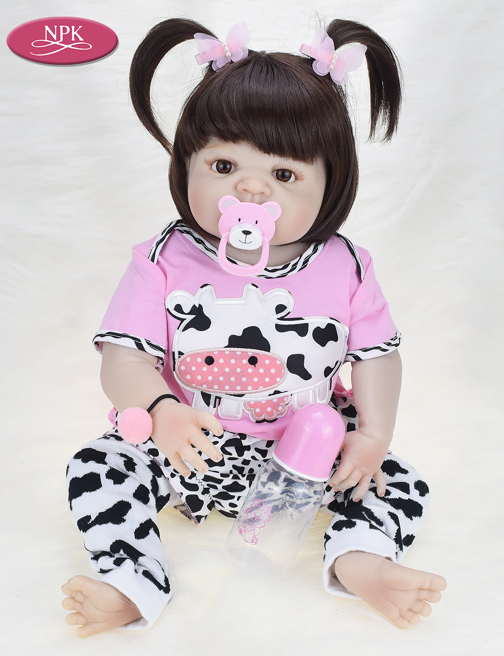 NPK Real 57CM Full Body SIlicone Girl Reborn Babies Doll Bath Toy Lifelike Newborn Princess Baby Doll Bonecas Bebe Reborn Menina (13)