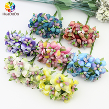 6pcs 3cm Artificial Stamen Bud Berry flower for Wedding Candy Box Decoration Scrapbooking DIY wreaths Fake Flowers(China)