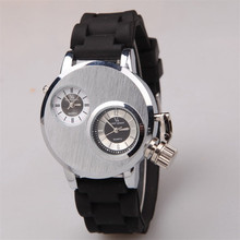 Double Movement Dual Time Zone Quartz Silica Business Casual Watch Store sales promotion at a loss of 99 Shipping   au11