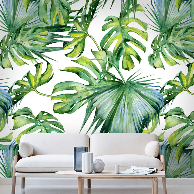 Relief Light green leaf Wallpaper for Living Room Bedroom Mural Wall papers 3D Desktop Background Wallpaper home decor<br><br>Aliexpress
