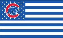 New Chicago Cubs Bear Blue & White Stars & Stripes Flag 3x5 ft Polyester(China)