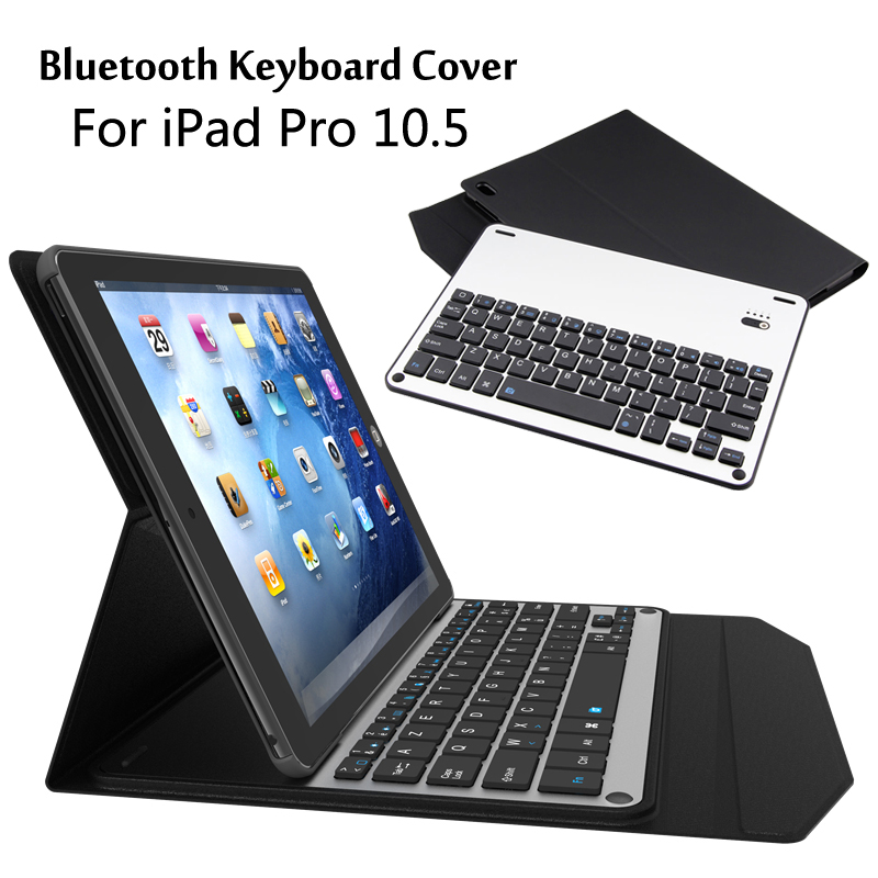 For iPad Pro 10.5 High-Quality Ultra thin Detachable Wireless Bluetooth Aluminum Keyboard Case cover + Film + Stylus<br>