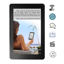 Hot WiFi eBook Reader Android ereader 7 inch IPS Capacitive touch screen 1024x600 Flatbed reader with Network download