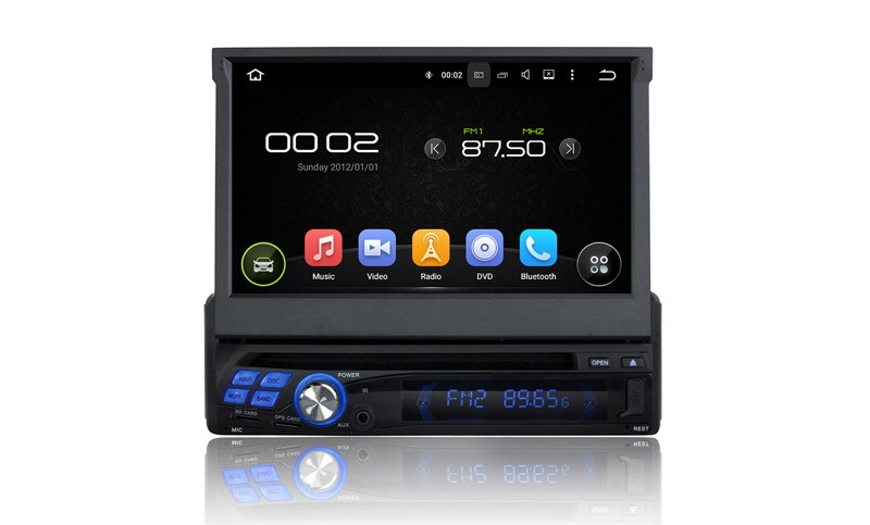 1 Din Android Auro Radio Stereo Gps Navigation System Car Head Unit Multimedia Player Support Wifi Bluetooth USB Touch Screen