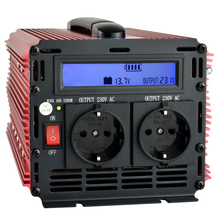 LCD display UPS inverter 3000W 6000W(peak)12v to 220v Inverter+Charger & UPS,Quiet and Fast Charge power supply(China)