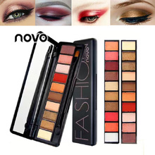 Novo brand makeup diamond wet eyeshadow palette 10 colors high shimmer eyeshadow pigment powder red glitter eye shadow BN010
