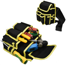 Multi Pocket Carpenter Hammer Tool Bag Oxford Cloth Waist Electrician Tool Holder Pouch Belt Bag Car Auto Repair Kit Storage