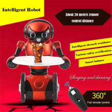 High Quality WLtoys F1 Lightweight 2.4G USB Charging Intelligent Balance G-Sensor Remote Control Toy RC Robot Model Kids Gift