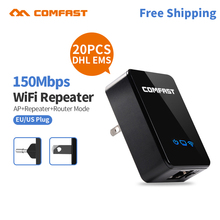 20pc DHL Original Comfast Wireless WIFI Repeater 150M Network Antenna 802.11n/b/g Wifi Signal Extender Amplifier WR150N - comfast Official Store store