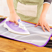 Mats Cloth Cover Protect Ironing Pad Heat Resistant Cloth Mesh Ironing Board Mat 40x60 cm(China)