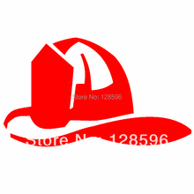 Fire Fighter Helmet Wall Car Auto Decal Sticker Vinyl Graphic Red