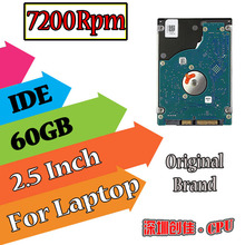 "2.5""  IDE PATA 60GB 60g ide 7200RPM Internal Hard Disk Drive for laptop hdd notebook 8MB screw driver free 7200"