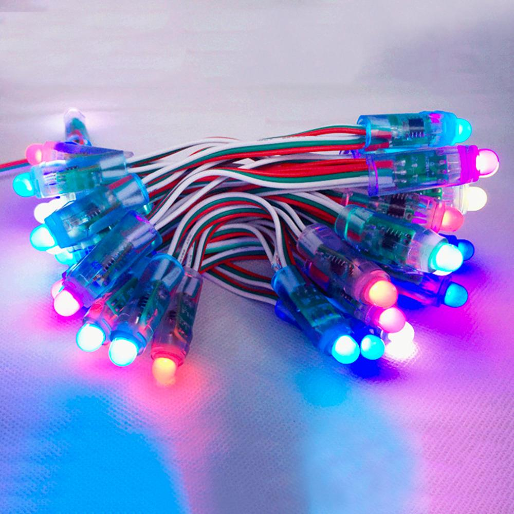 50pcs 12mm WS2811 led pixel module,IP68 waterproof DC5V full color RGB string christmas LED light Addressable as ucs1903 WS2801<br><br>Aliexpress