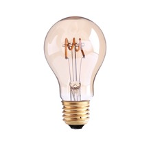 Spiral Filament LED,Edison A19 Globe Bulb,3W,Amber Glass,Super warm 2200K,E26 E27 Base,Decorative Lights,Dimmable