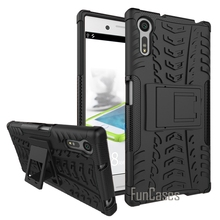 For Sony Xperia XZ Case 5.2 Inch Plastic Silicon 2 in 1 Anti Knock Back Armor Phone Cover Cases for Sony XZ Bags Fundas Celular