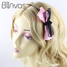 Stylish Girls Hair Accessories Cute Sweet Headband Bow Hairbands Lace Elegant Headdress for Women 4 Colors