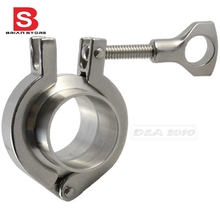 "1 set 25MM 1"" OD Sanitary Pipe Weld Ferrule + Tri Clamp + PTFE Gasket Stainless Steel SUS SS 304"