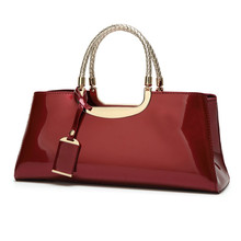 2017 New Patent leather Bag luxury Handbags Women Casual Tote bag Ladies Bride Shoulder Messenger Bags
