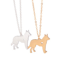 SALE 100pcs German Shepherd Necklace Dog Jewelry Breed Pet Jewelry Christmas Gifts Dog Memorial Gift Rescue Heart Dog Puppy