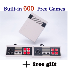 Mini Retro TV Handheld Game Console Video Game Console mini Games player Built-in 600 Different Games PAL&NTSC dual gamepad