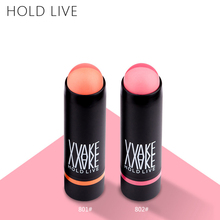 HOLD LIVE Half and Half Blusher Cream 2 Colors Hot Blush Makeup Bronzer Natural Pink Blushers Stick Lips Eye Shadow Face Make Up