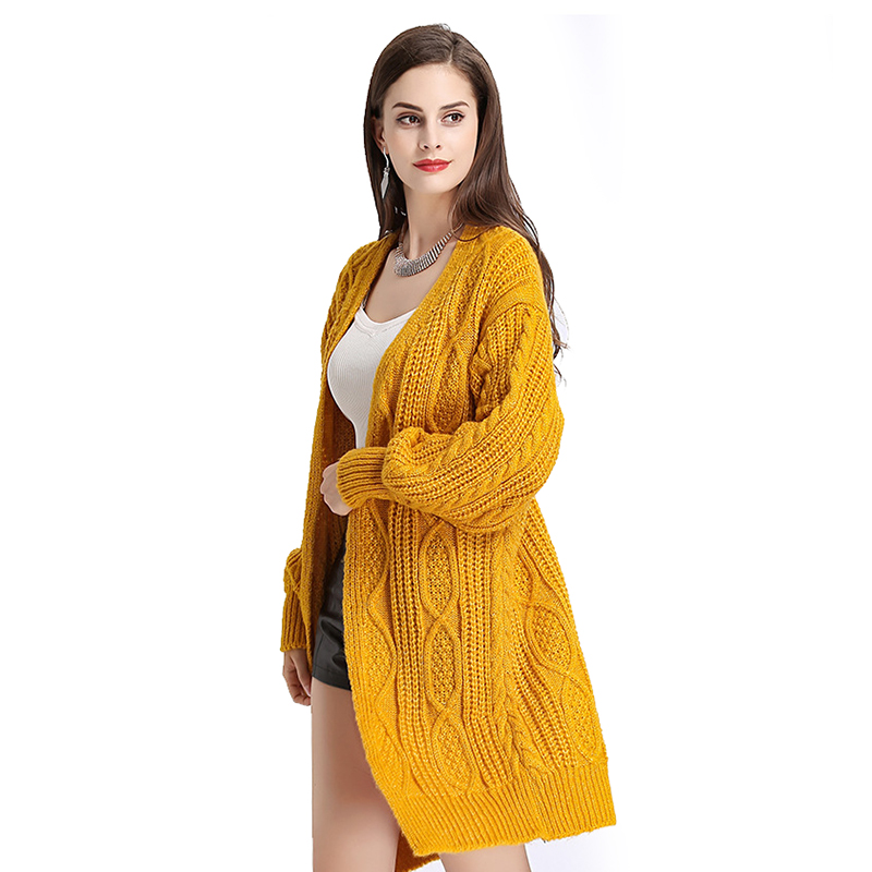 H.SA 17 Women Long Cardigans Autumn Winter Open Stitch Poncho Knitting Sweater Cardigans V neck Oversized Cardigan Jacket Coat 6