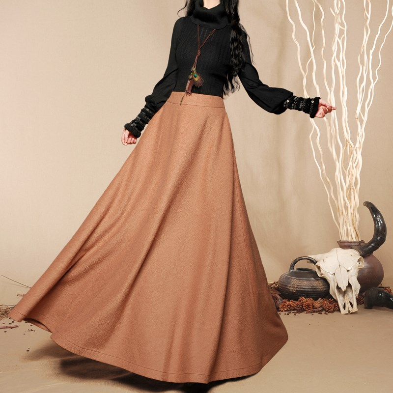 High Quality Long Wool Skirt Promotion-Shop for High Quality ...