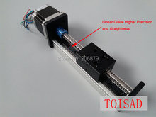 Linear Guide module 450mm EffectiveTravel length Ballscrew SGX 1605 Sliding Table Sliding Rail System+ 57 Stepper Motor nama 23(China)