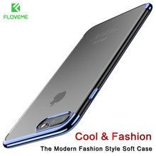 FLOVEME Phone Case For iPhone 8 Case 3D Transparent Plating Cover Coque For iPhone 8 iPhone 8 Plus Case luxury Soft TPU Silicone