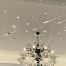 52Pcs/Set DIY Romantic Sky Star Meteor Ceiling Acrylic Wall Sticker Home Decor Bedroom Living Room with Double Side Tape(China)