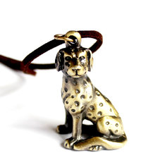 Dalmatian Dog Necklace Animal For Men Fashion Jewelry Pendant Necklaces Leather Chain Collar Animal Design Unique Gift HOT(China)