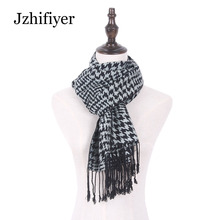 Jzhifiyer viscose cotton swallow gird jacquard long male scarf men fashion tassel woven shawls feminino inverno high quality
