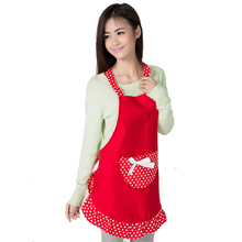 Apron For Women Aprons Cleaning with Pockets Cute Cotton Waitress Simple Antifouling Uniform Cooking Pinafore Couple Household(China)