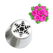 Pop Icing Piping Tips Christmas Tree Special Russian Leaf Nozzle Bakeware Cupcake Cake Decorating Pastry Baking Tools