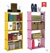 Simple bookrack Strengthen the storage cabinets children  bookcase free combination