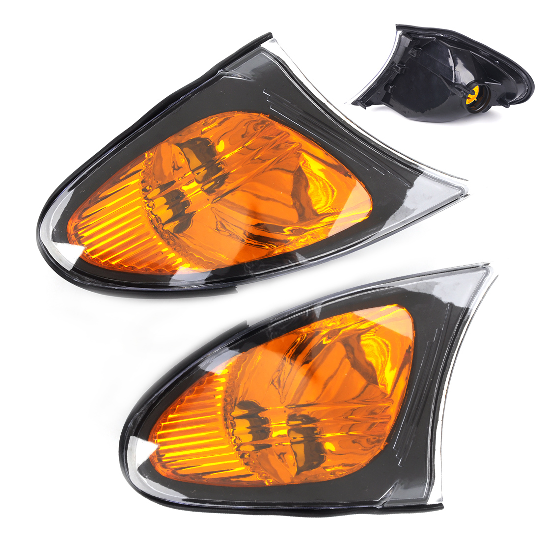 DWCX 2x Car Left Right Yellow Corner Light Lamp BM2521109 BM2520109 for BMW 3 Series E46 325i 325xi 330i 330xi 2002 2003 - 2005<br>
