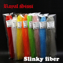 Royal Sissi 8colors assorted slinky fibre long synthetic kinky hair /slinky fiber fly tying materials for Clouser minnow fishes(China)