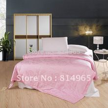 Summer 100GSM Pink Handmade High Quality 100% Mulberry Silk Filled Duvet Quilt Comforter Full210X180cm Or Make Any Size(China)