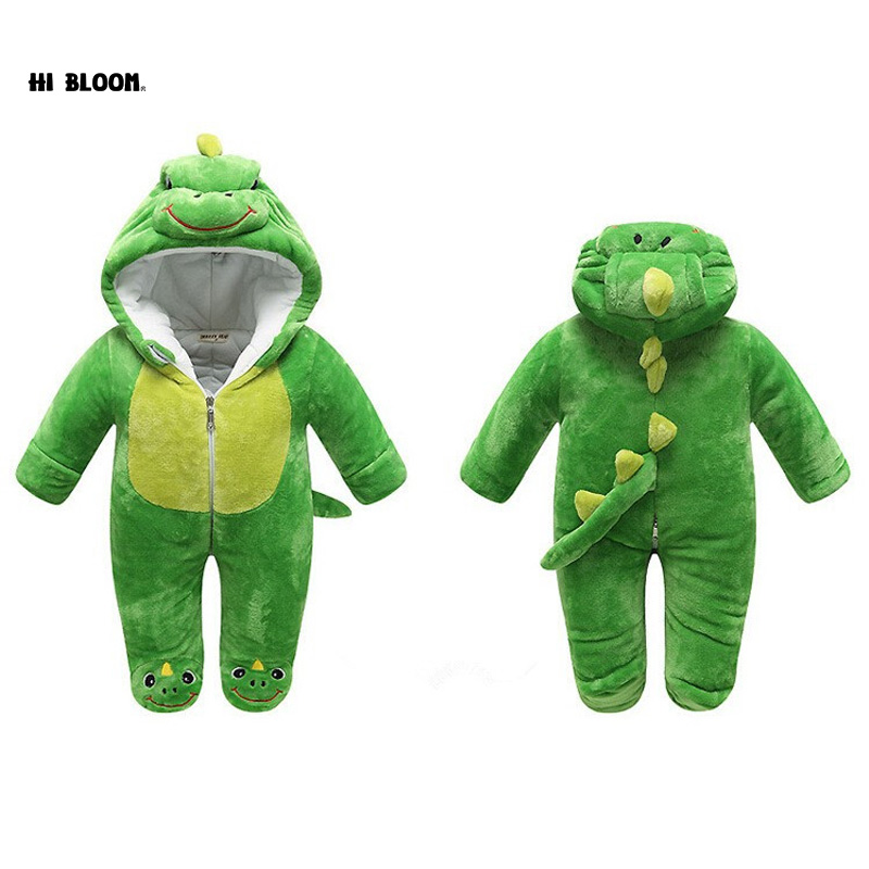 7 Styles Newborn Baby Cartoon Animal Costume Thick Winter Kid Jumpsuits Pajamas Lovely Clothing Gift Baby Animal Romper Jumpsuit<br>
