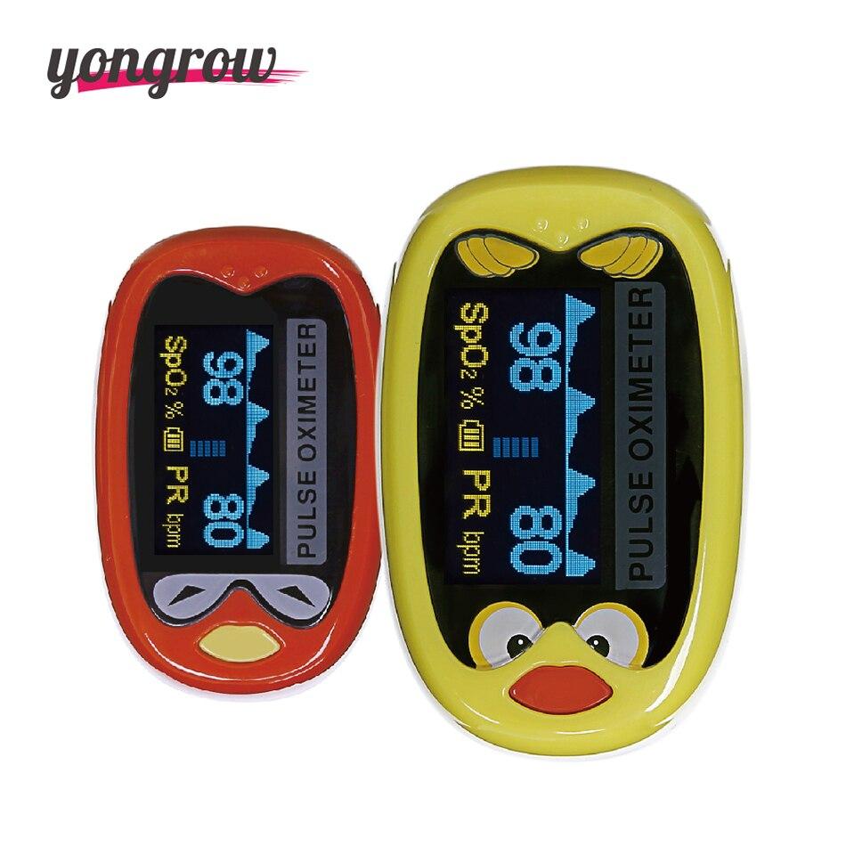 Yongrow Pediatric/Child Finger Pulse Oximeter for children kids oximetro Pulsoximeter Saturation Meter De Pulso De Dedo SpO2 <br>