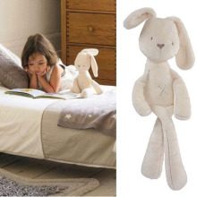 INS Rabbit Baby kids comfort Soft Xams Gift Toys Brinquedos Plush Bunny Sleeping Mate Stuffed & Plush car toy doll(China)